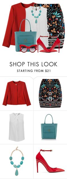 """Embroidered Skirt & Blazer"" by brendariley-1 ❤ liked on Polyvore featuring Marni, Joseph, Kenneth Jay Lane, Valentino and Dolce&Gabbana"
