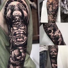 Full arm tattoo Atlas tattoo Pegas tattoo