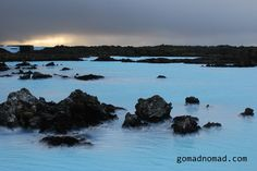 Iceland --milky blue runoff from the Blue Lagoon