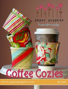 coffee sleeve...@Clairann Terry, these are a MUST for our regular coffee treats!!!