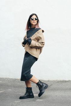 Knit jumper dress look idea <3