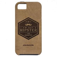 I am not a Hipster 100% Guaranteed Funny Mustache iPhone 5 Covers