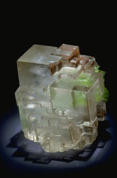 Calcite with Duftite / National Mineral Collection