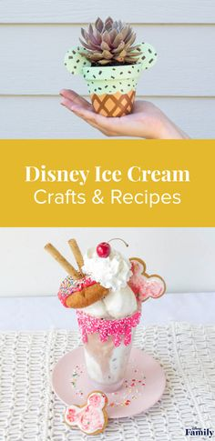 Ice Cream Crafts and