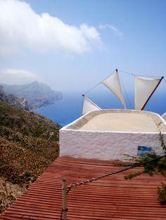 Windmill in Olympos Karpathos, Greek Islands, Windmill, More Photos, Opera House, Greece, Building, Travel, Greek Isles