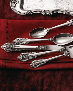 """Love this collection!   66-Piece """"Grande Baroque"""" Flatware Service at Horchow."""