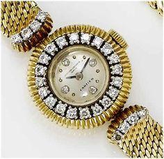 Vacheron Constantin/Cartier. A lady's 18ct gold diamond set cocktail watch retailed by Cartier 1950's...$10,500.00