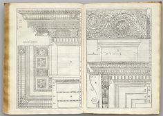 Palladio book of architectural drawings