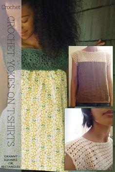 crochet yokes on shirts