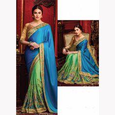 Latest Indian Designer Bollywood Traditional Sari Party Wedding Saree Blouse Set #Handmade #Saree