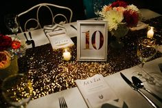 gold sequin table runner - Google Search