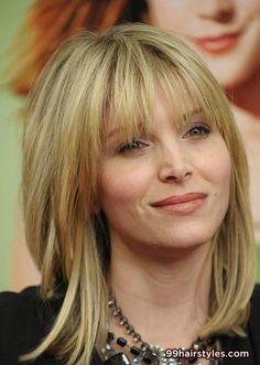 medium length blonde hairstyle for wavy hair - Hairstyle Ideas