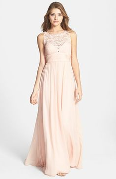 Aidan Mattox Embellished Lace & Silk Chiffon Gown (Online Only) | Nordstrom (too expensive)