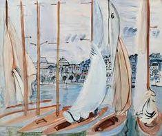Raoul Dufy (French, Le séchage des voiles [Drying the Sails], Deauville, Renoir, Monet, Art Fauvisme, Raoul Dufy, Georges Braque, Scenic Design, Henri Matisse, Cubism, Art Techniques