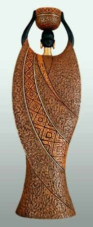 African American Figurines - Woman B Brown Series Tealight Figurine - 3BGifts.com
