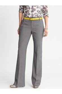 Banana Republic Martin Fit Charcoal Lightweight Wool Trouser
