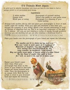 SAMHAIN.. IS A GOOD TIME.. TO DO THIS.. OLD FRIENDS MEET AGAIN