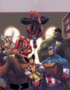 SPIDERMAN, THOR, CAPTAIN AMERICA, IRON MAN AND THE HULK