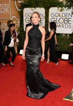 Actress Uma Thurman attends the 71st Annual Golden Globe Awards held at The Beverly Hilton Hotel on January 12, 2014 in Beverly Hills, Calif...
