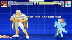 The Annoying Orange And Poison Ivy VS Shazam And Rainbow Dash In A MUGEN Match / Battle / Fight This video showcases Gameplay of The Annoying Orange And Poison Ivy The Supervillainess VS Shazam The Superhero And Rainbow Dash From The My Little Pony Friendship Is Magic Series In A MUGEN Match / Battle / Fight