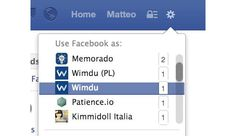 'Use Facebook As' Tweaked For Page Admins?