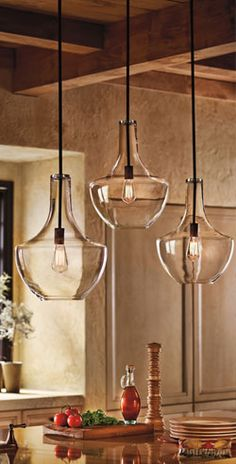These popular pendant light fixtures are perfect for any kitchen island.