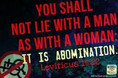 Homosexuality an abomination to god scripture