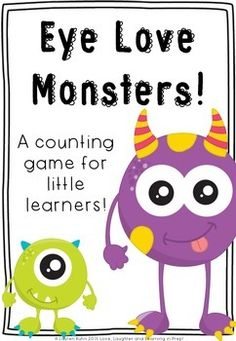 Children take turns to roll and add googly eyes to their monster mat. The first to collect 20 eyes is the winner! Monster Activities, Preschool Lessons, Free Activities, Hands On Activities, Kindergarten Activities, Preschool Activities, Monster Classroom, Math Classroom, Maths