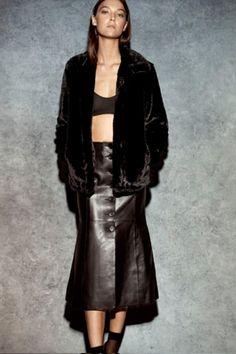 ENA PELLY - Lizzie Faux Fur Jacket | Black