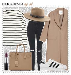 """Denim Trend: Black Jeans By A"" by anamarija00 ❤ liked on Polyvore featuring Topshop, Monki, J.Crew, Yves Saint Laurent, adidas, MAC Cosmetics, rag & bone, women's clothing, women's fashion and women"