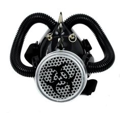 Bio Hazard Gas Mask with Single Respirator