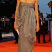 Sienna Miller - long grey dress
