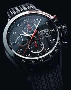 TAG Heuer - Carrera Calibre 1887 Chronograph Monaco Grand Prix Limited Edition - Trends and style - WorldTempus Amazing Watches, Beautiful Watches, Cool Watches, Watches For Men, Dream Watches, Fine Watches, Luxury Watches, Tag Heuer Carrera 1887, Tag Heuer Carrera Calibre