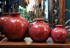 Tuscan Decorations | Tuscan Decorating Accessory: Vino Rosso Earthenware Jugs