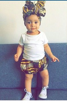 Super cute african baby diaper cover pants. Baby swag.