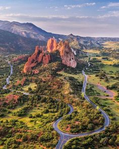 Garden of the Gods arial view. You can see the road the road that goes around this incredibly stunning park 365. No bad days or pics to be taken at this park.