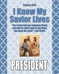 2015 Primary Presidency Binder Covers