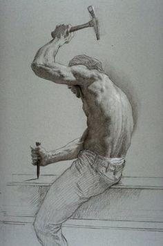 figure drawing by Jon de Martin Gesture Drawing, Guy Drawing, Drawing Sketches, Painting & Drawing, Art Drawings, Figure Drawings, Human Figure Drawing, Figure Sketching, Figure Drawing Reference