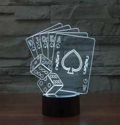 Barato Lâmpada Luz CONDUZIDA Da Noite de Poker jogando Cartas Ilusão de Ótica 3D e Peneiras Novidade Iluminação, Compro Qualidade Luzes da noite diretamente de fornecedores da China: 3D LED Night Light  Yoda BB-8 Acrylic Colorful Kids Baby Bedroom USB Table Lamp For Party Novelty LightingUSD 17.80/piec