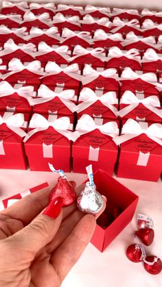 Red wedding favor box with satin ribbon bow and custom names, Elegant personalized gift boxes make a unique way to thank guests for attending your special day. #welcomebox #giftbox #personalizedgifts #weddingfavor #weddingbox #weddingfavorideas #bonbonniere #weddingparty #sweetlove #favorboxes #candybox #elegantwedding #partyfavor #redwedding #burgundywedding #giftboxes #uniqueweddingfavors #uniqueweddingideas