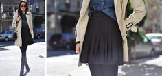 Wearing Now: Pleated Skirt - 9to5Chic