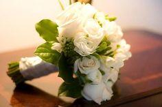 Green & White Wedding Bouquets