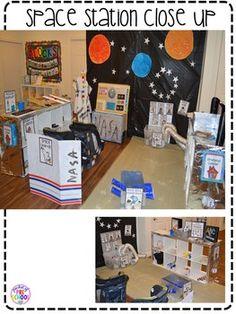 Space Station Dramatic Play by Pocket of Preschool Dramatic Play Area, Dramatic Play Centers, Play Based Learning, Learning Through Play, Learning Centers, Space Activities, Preschool Activities, Preschool Teachers, Sistema Solar