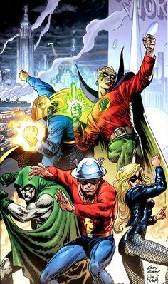 "splooosh: "" Justice Society of America - Joe Kubert/Andy Kubert "" Dc Comics Heroes, Arte Dc Comics, Dc Comics Characters, Superman Art, Batman, Caricature, Marvel, Comics Anime, Arte Nerd"