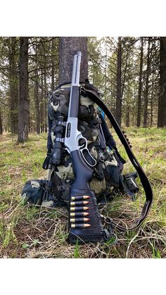 SLing and wrap combo on a Henry All weather Weapons Guns, Guns And Ammo, Zombie Weapons, Leather Rifle Sling, Lever Action Rifles, Custom Guns, Military Guns, Hunting Rifles, Cool Guns