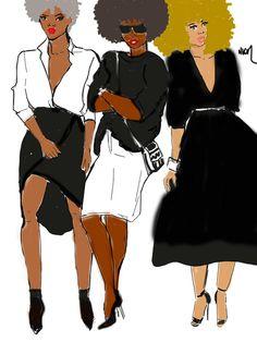 Skin Tone par Nikisgroove sur Etsy#afroart #nikisgroove