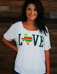 This new Texas Love top has a great southwestern feel, and is perfect for fall!