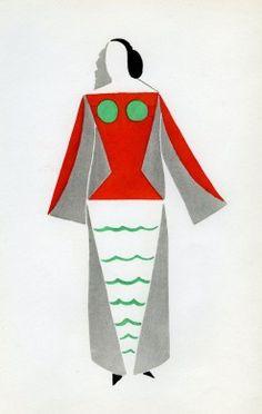 Sonia Delaunay  Robe pour le Cœur à gaz 1923