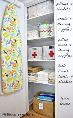 Ideas for an organized linen closet
