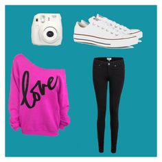 """""""Peace love an Blue"""" by kate-0513 ❤ liked on Polyvore featuring Paige Denim and Converse"""